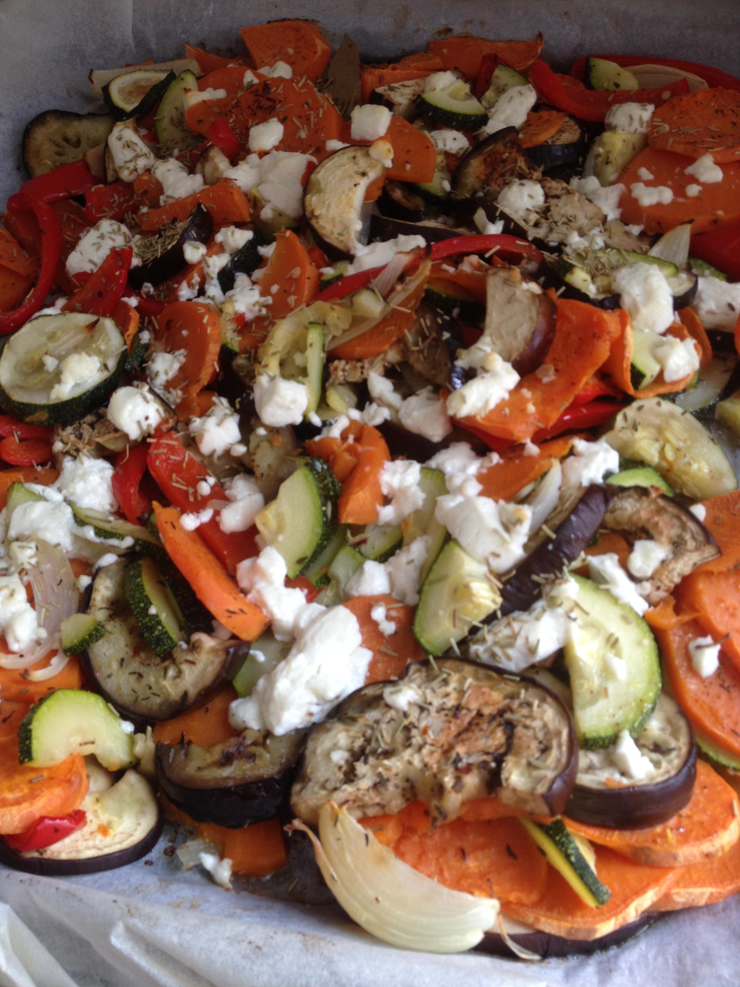 Groenten uit de oven met geitenkaas – Hillie's keuken