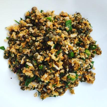Wilde rijstsalade